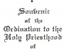 Souvenir card of Fr. Sulzman's ordination to the priesthood in New York, 1931. (From story Beginnings)