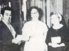 Kate receives an award as part of the Beaverton [Oregon] Elks Community Project Awards Contest, along with three other recipients, 1972. Her award is for work with Skid Road alcoholics and includes $300, which she uses as seed money for her new ministry. Photo source undeterminable. (From Photo Gallery III: The Skid Road Years - Part 1)