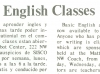 "From ""English Classes"" in BCC Pipeline 1975. (From From the Times: Language and Math Classes)"