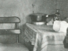 "Room in Skid Road hotel, probably an outside room in Holm Hotel. Photo is from ""Burnside, A Community: A Photographic History of Portland's Skid Row,"" by Kathleen Ryan, text by Mark Beach, Coast to Coast Books, 1979. Reprinted with permission. (From From the Times: Housing V)"
