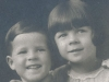 With brother, Al, as young children. (From Photo Gallery I: The Early Years)